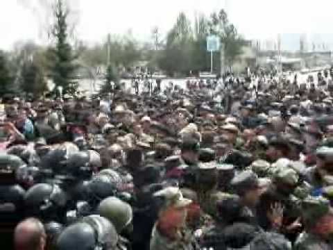 Anti Govt Protests in Talas April 6: Beginning of End of Bakiev Family Rule