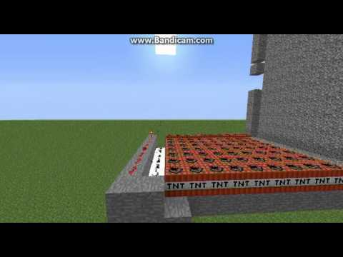 [Minecraft] [1.5.1] FULLY AUTOMATIC TNT MACHINE CANNON TUTORIAL block storytnt